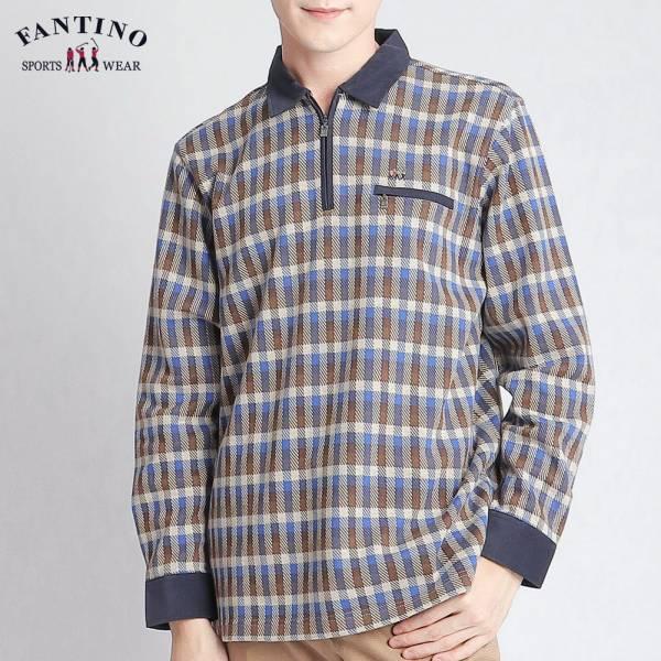 POLO衫(男)-棕藍格紋48/50