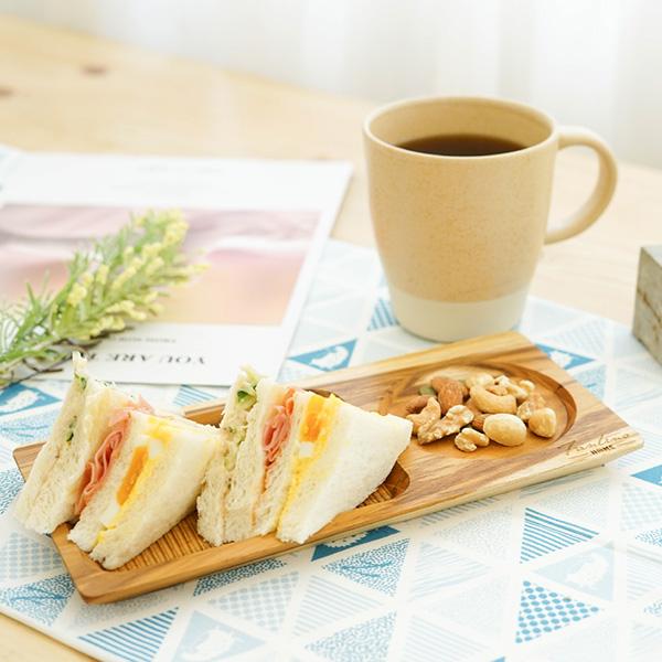 天然柚木咖啡盤(25x12cm)-波點款/條紋款 柚木,廚房,餐具,筷子,環保