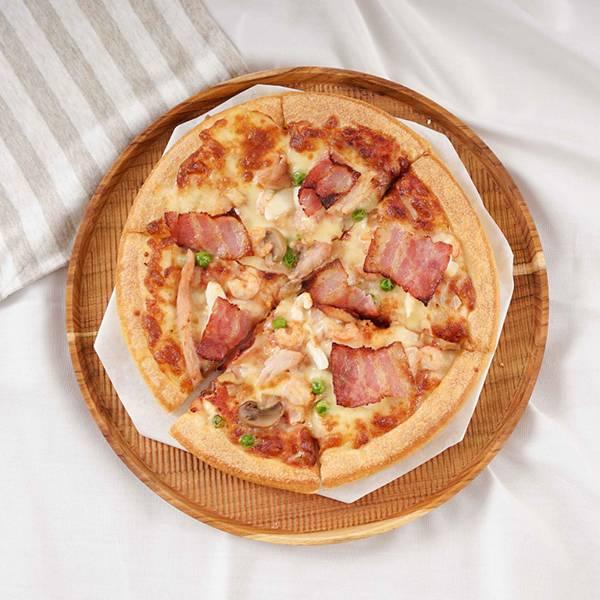天然柚木圓型托盤XL號(直徑29cm)-條紋款 柚木,廚房,餐具,木盤