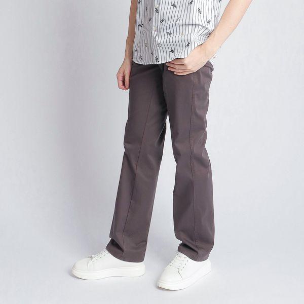 天絲埃及棉休閒棉褲(男)-紫灰