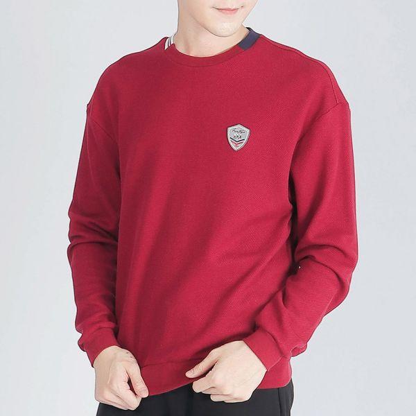 UMORFIL膠原蛋白棉衫(男)-暗紅