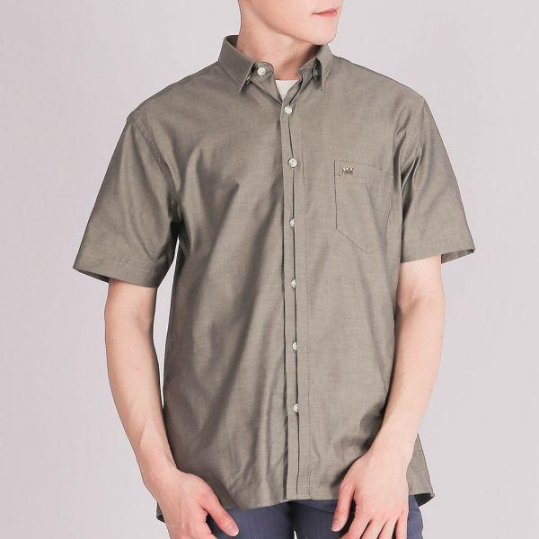 奧地利進口埃及棉休閒襯衫(男)-銀綠