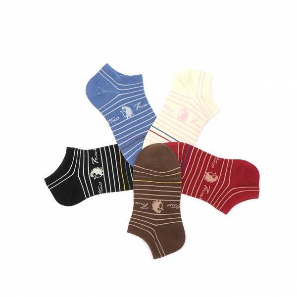 膠原蛋白抗菌除臭襪(刺蝟線條)共5色 女襪,台灣設計,台灣製造,文青,短襪,文創設計,刺蝟,膠原蛋白,居家良品,襪子