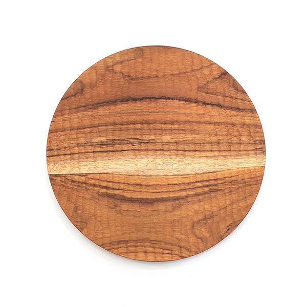 天然柚木圓盤-波點款│食用安心不上漆原木製 柚木,廚房,餐具,筷子,環保