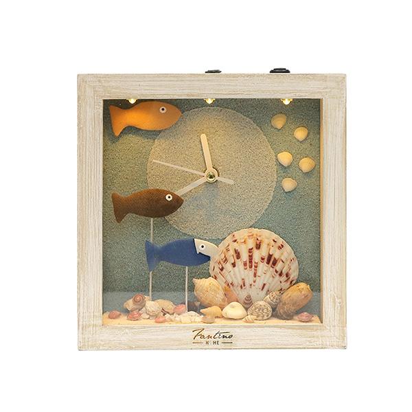 海洋深呼吸 手工木作時鐘-海底派對 魚左 家居品, 時鐘, 原木時鐘, 海洋時鐘, 手工時鐘, 療癒時鐘
