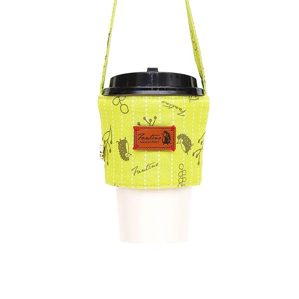 雙層隔熱環保飲料杯套/飲料提袋(漂浮森林)-草地綠 飲料杯套,環保杯套,手提杯套,杯套,環保飲料提袋,飲料袋,飲料提袋,婚禮小物,禮物,外帶,環保,防水布,杯套,飲料,提袋,杯套提袋,環保杯袋,環保杯,飲料杯
