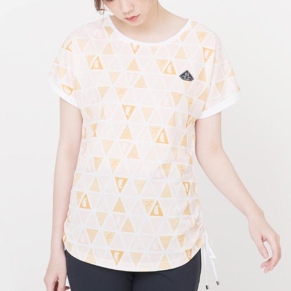 腰側抽繩雙絲光SUPIMA棉印花T恤(共兩色) 匹馬棉,SUPIMA,雙絲光棉,T恤,服裝,女裝,fantino
