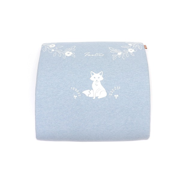 有機棉人體工學膝下枕-麻花藍 膝下枕, 可愛枕頭, 有機棉枕頭, 高回彈PU太空棉, 露營枕