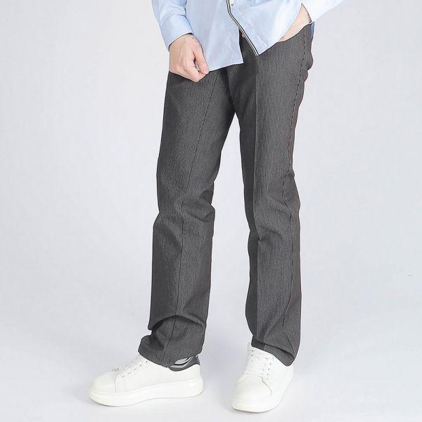 吸濕排汗棉褲(男)-深綠條紋