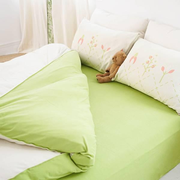 【床包】UMORFIL膠原蛋白針織寢具-抹茶綠 女襪,台灣設計,台灣製造,文青,短襪,文創設計,刺蝟,膠原蛋白,居家良品,寢具,枕套