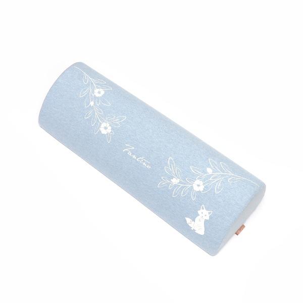 有機棉小狐狸美體枕-麻花藍(美容美體SPA師指定款) 枕頭, 美體枕, 可愛枕頭, 有機棉枕頭, 高回彈PU太空棉, 露營枕, 腳靠墊