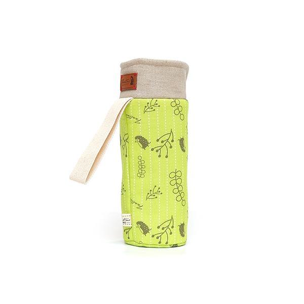 保溫防撞水壺袋/水瓶提袋(漂浮森林)-草地綠 保溫袋,水壺袋,水壺提袋,保冰溫,手攜式,防撞,防摔,保溫瓶,玻璃瓶,水壺,學生,保溫杯套,隔熱保護,水杯套