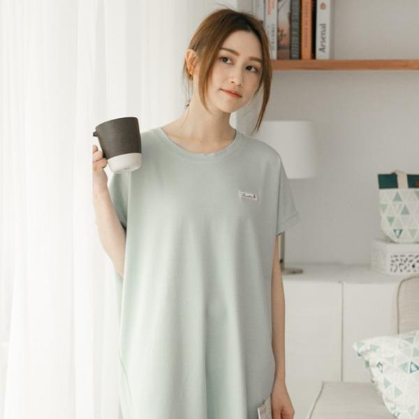 膠原蛋白蕾絲短袖家居服連身裙/居家服-藍 家居服,舒適,刺繡,台灣設計,台灣製造,文青,文創設計,刺蝟,居家良品