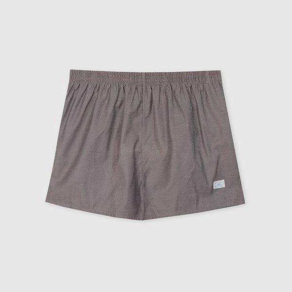 斜紋純棉四角褲/平口褲-深灰