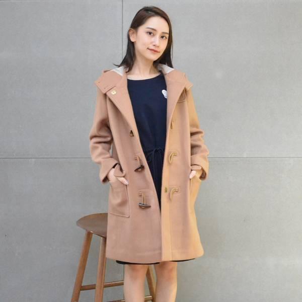 毛呢牛角釦大衣(卡其) 休閒服,舒適,刺繡,台灣設計,台灣製造,文青,文創設計,刺蝟,戶外休閒