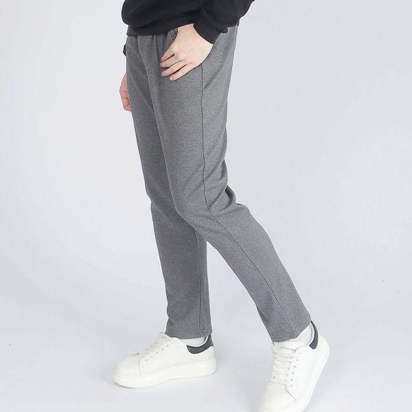 機能休閒棉褲(男)-深麻灰