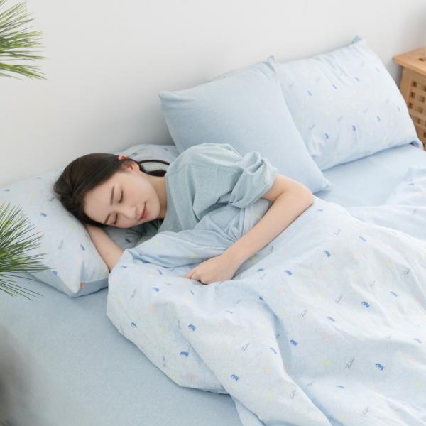 【枕套】有機棉刺蝟剪花寢具-天空藍 女襪,台灣設計,台灣製造,文青,短襪,文創設計,刺蝟,膠原蛋白,居家良品,寢具,枕套