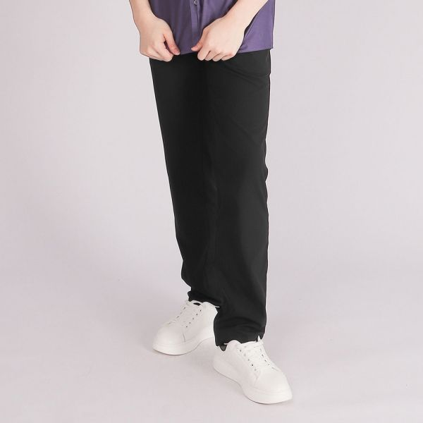 吸濕排汗休閒棉褲(男)-森林綠
