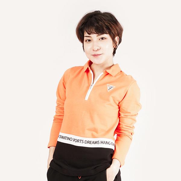 膠原蛋白開襟舒適棉衫(女)-橘