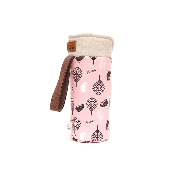 保溫防撞水壺袋/水瓶提袋(叢林躲貓貓)-櫻花粉 保溫袋,水壺袋,水壺提袋,保冰溫,手攜式,防撞,防摔,保溫瓶,玻璃瓶,水壺,學生,保溫杯套,隔熱保護,水杯套