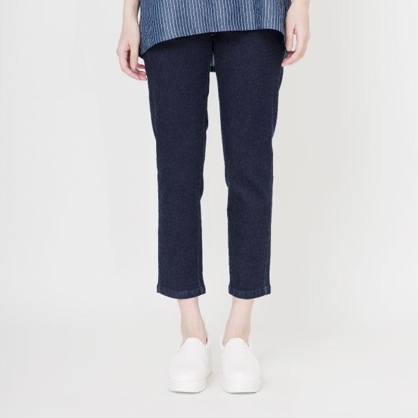 埃及棉彈力牛仔長褲(深藍) 埃及棉,長褲,休閒長褲,牛仔褲,修飾身型,服裝,女裝,fantino