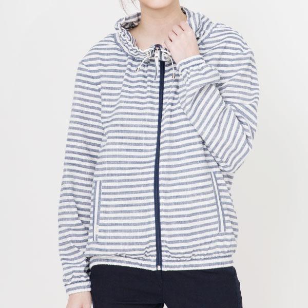亞麻條紋休閒外套(共3色) 亞麻,外套,服裝,女裝,fantino