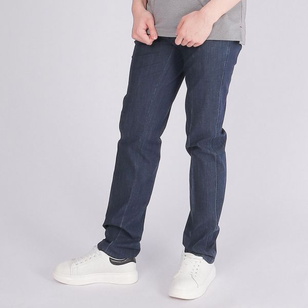COOLMAX吸濕排汗牛仔褲(男)-深藍
