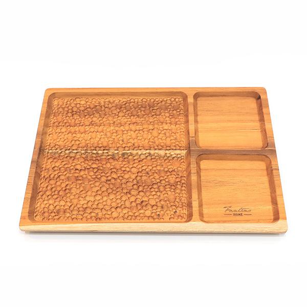 天然柚木早午餐盤-波點款 /食用安心不上漆原木製托盤 柚木,廚房,餐具,筷子,環保