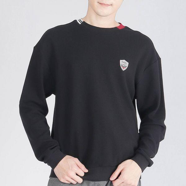 UMORFIL膠原蛋白棉衫(男)-黑