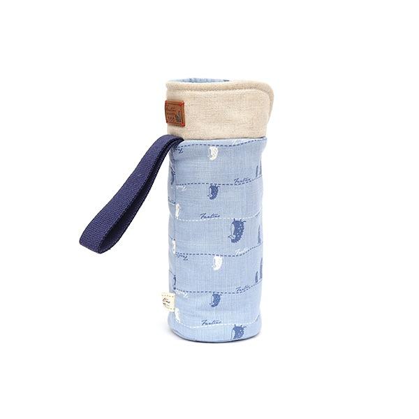 保溫防撞水壺袋/水瓶提袋(漫步一線間)-天空藍 保溫袋,水壺袋,水壺提袋,保冰溫,手攜式,防撞,防摔,保溫瓶,玻璃瓶,水壺,學生,保溫杯套,隔熱保護,水杯套