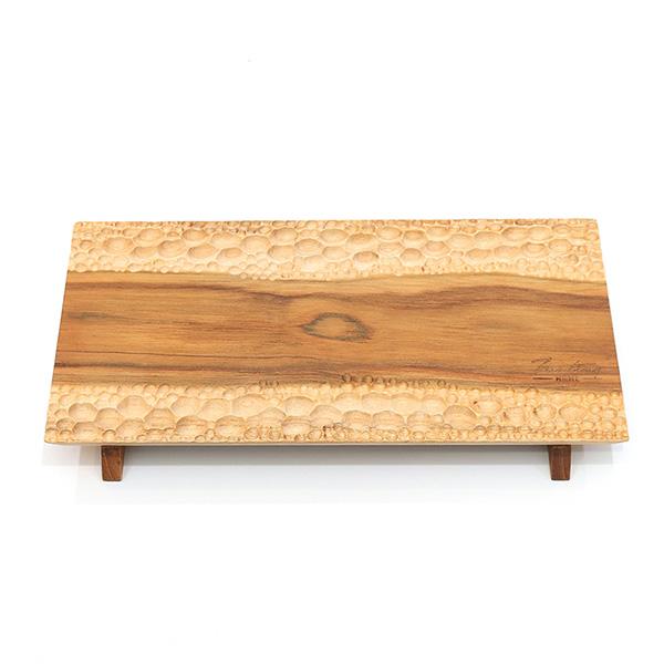 天然柚木壽司盤-波點款/食用安心不上漆原木製點心盤 柚木,廚房,餐具,筷子,環保