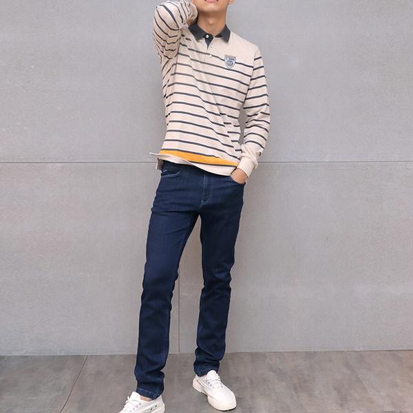 經典直筒牛仔褲(深藍) 家居服,舒適,刺繡,台灣設計,台灣製造,文青,文創設計,刺蝟,居家良品