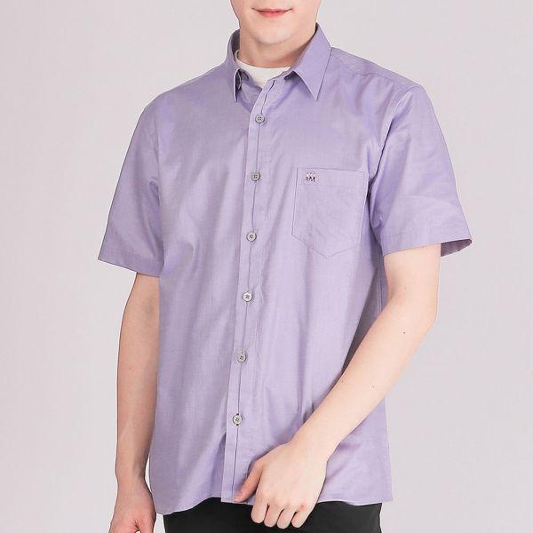 奧地利進口埃及棉休閒襯衫(男)-淡紫