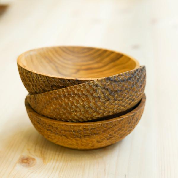 天然柚木碗-波點款/條紋款 柚木,廚房,餐具,筷子,環保