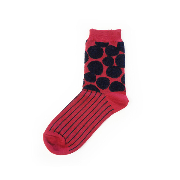 Fantino x Debby 雙層針織防潮襪 - Maison Blanche 2重編みうるおいソックスドット(日本製)