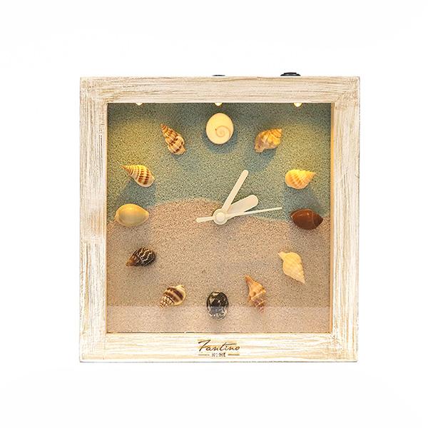 海洋深呼吸 手工木作時鐘-貝殼海洋 深 家居品, 時鐘, 原木時鐘, 海洋時鐘, 手工時鐘, 療癒時鐘