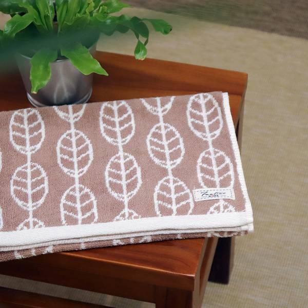 厚質手感色紗百分百棉吸水毛巾-拿鐵咖 毛巾,台灣設計,台灣製造,浴巾組,質感,文創設計,葉子,居家良品,吸水,粉色