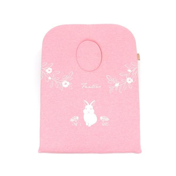 有機棉小兔兔紓壓枕-麻花粉(美容美體SPA師指定款) SPA枕, 紓壓枕, 有機棉枕, 高回彈PU太空棉枕, 按摩枕