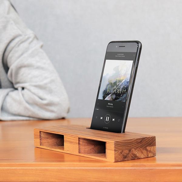 質感柚木手機擴音座 - C款 柚木,手機,擴音座