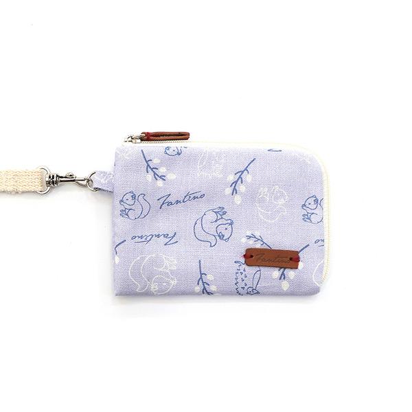 森林萬花筒手掛式票卡夾/零錢包(薰衣草紫) 手工布料,台灣設計,台灣製造,花布設計,質感袋包,文創設計,刺蝟,提袋,包包,居家良品,提袋,手提包,方包,肩背包,側背包