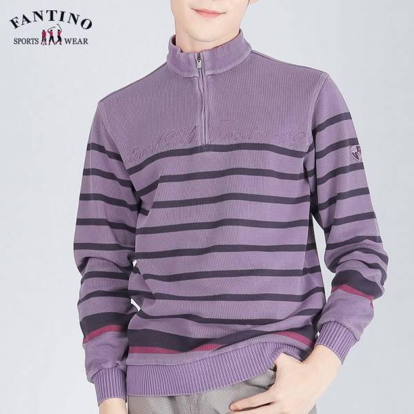 POLO衫(男)-紫橫紋46/48/50