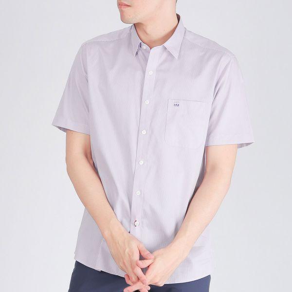100%埃及棉商務襯衫(男)-淺紫色