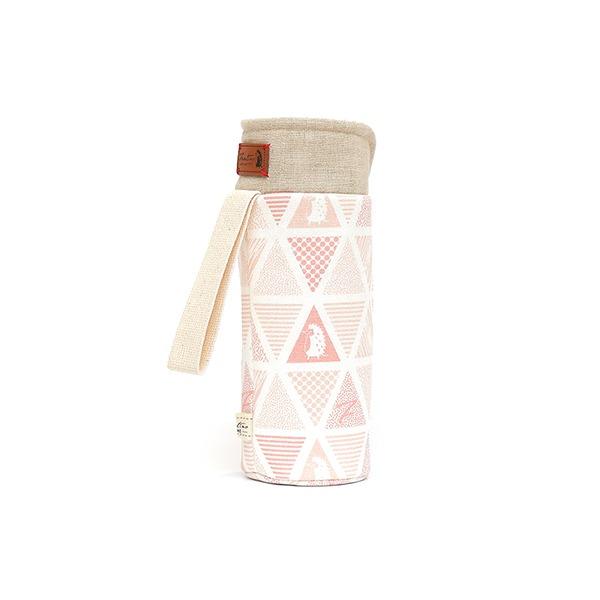 保溫防撞水壺袋/水瓶提袋(三角密室)-石英粉 保溫袋,水壺袋,水壺提袋,保冰溫,手攜式,防撞,防摔,保溫瓶,玻璃瓶,水壺,學生,保溫杯套,隔熱保護,水杯套