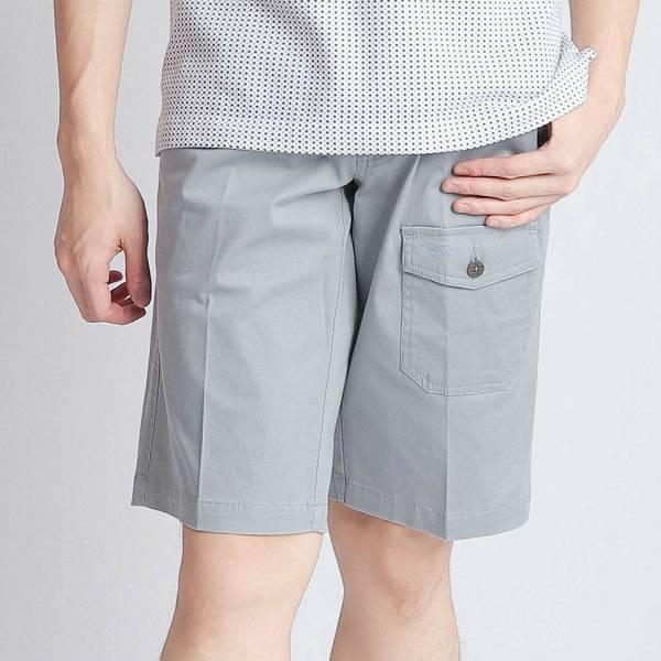 埃及棉短褲(男)-藍印細條