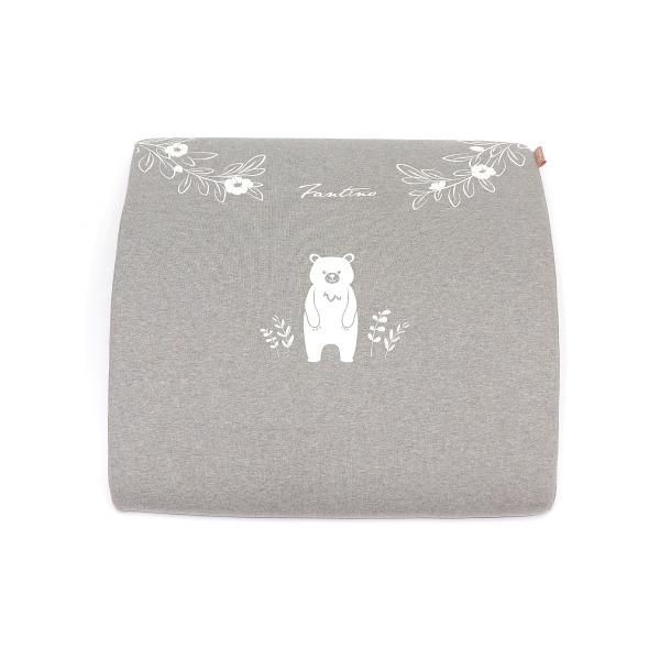 有機棉人體工學膝下枕-麻花灰 膝下枕, 可愛枕頭, 有機棉枕頭, 高回彈PU太空棉, 露營枕