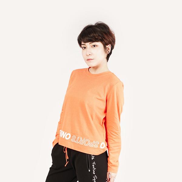 膠原蛋白短版圓領針織衫(女)-橘