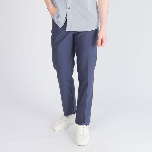 吸濕排汗休閒棉褲(男)-深丈青