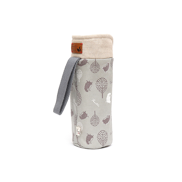 保溫防撞水壺袋/水瓶提袋(叢林躲貓貓)-月球灰 保溫袋,水壺袋,水壺提袋,保冰溫,手攜式,防撞,防摔,保溫瓶,玻璃瓶,水壺,學生,保溫杯套,隔熱保護,水杯套