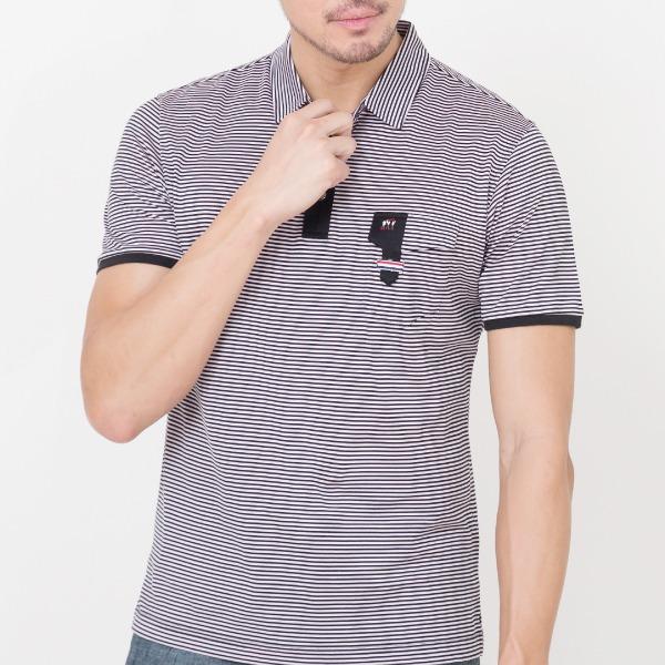 65支雙絲光棉條紋POLO衫(共4色) 雙絲光棉,POLO衫,T SHIRT,條紋,埃及棉,服裝,男裝,fantino