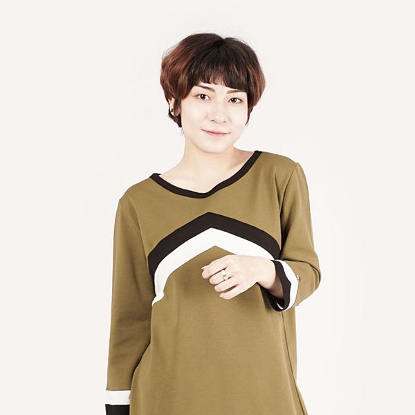 休閒運動連身洋裝(女)-橄欖綠